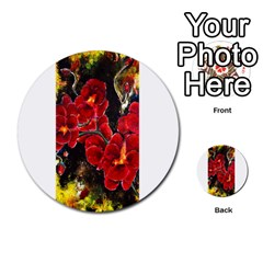 REd Orchids Multi-purpose Cards (Round)