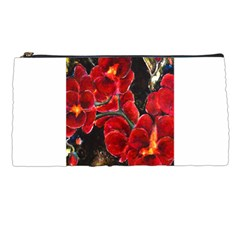 Red Orchids Pencil Cases