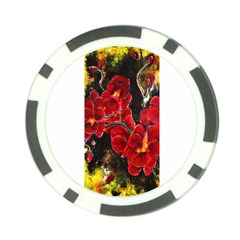 Red Orchids Poker Chip Card Guards (10 Pack)