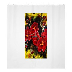 REd Orchids Shower Curtain 66  x 72  (Large)