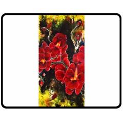 REd Orchids Fleece Blanket (Medium)