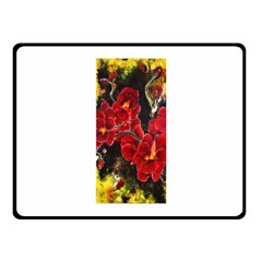 REd Orchids Fleece Blanket (Small)
