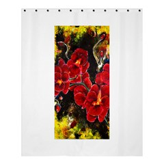 REd Orchids Shower Curtain 60  x 72  (Medium)