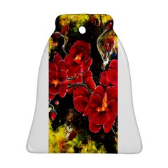 REd Orchids Ornament (Bell)