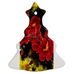 Red Orchids Christmas Tree Ornament (2 Sides)