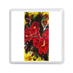 Red Orchids Memory Card Reader (square)