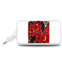 REd Orchids Portable Speaker (White)