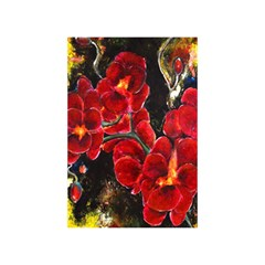 REd Orchids Birthday Cake 3D Greeting Card (7x5)