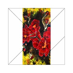 REd Orchids Acrylic Tangram Puzzle (6  x 6 )