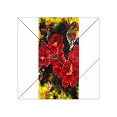 Red Orchids Acrylic Tangram Puzzle (4  X 4 )