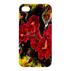 Red Orchids Apple Iphone 4/4s Premium Hardshell Case