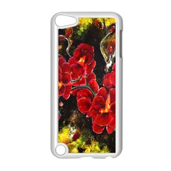 Red Orchids Apple Ipod Touch 5 Case (white)