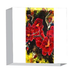 REd Orchids 5  x 5  Acrylic Photo Blocks