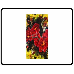 REd Orchids Double Sided Fleece Blanket (Medium)