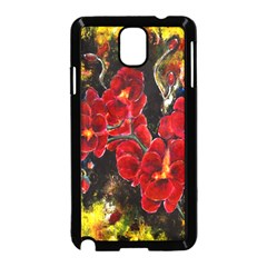 Red Orchids Samsung Galaxy Note 3 Neo Hardshell Case (black)