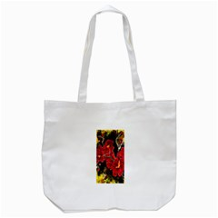 REd Orchids Tote Bag (White)