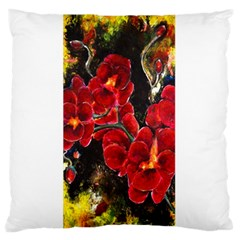 REd Orchids Standard Flano Cushion Cases (Two Sides)