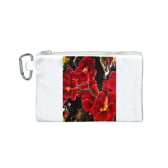REd Orchids Canvas Cosmetic Bag (S)