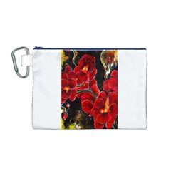 REd Orchids Canvas Cosmetic Bag (M)