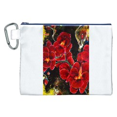 Red Orchids Canvas Cosmetic Bag (xxl)