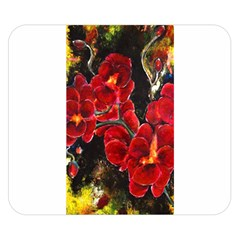 REd Orchids Double Sided Flano Blanket (Small)