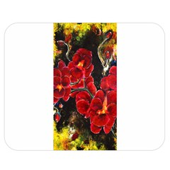 REd Orchids Double Sided Flano Blanket (Medium)