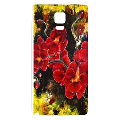 REd Orchids Galaxy Note 4 Back Case