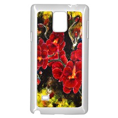 REd Orchids Samsung Galaxy Note 4 Case (White)