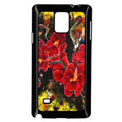 Red Orchids Samsung Galaxy Note 4 Case (black)