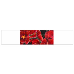 REd Orchids Flano Scarf (Small)
