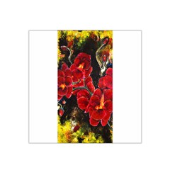 Red Orchids Satin Bandana Scarf