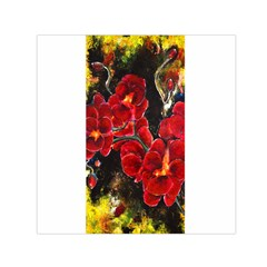 Red Orchids Small Satin Scarf (square)