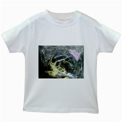 Black Ice Kids White T Shirts