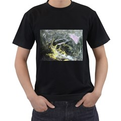 Black Ice Men s T Shirt (black) (two Sided)
