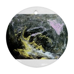 Black Ice Round Ornament (two Sides)