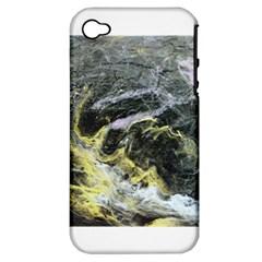 Black Ice Apple Iphone 4/4s Hardshell Case (pc+silicone)