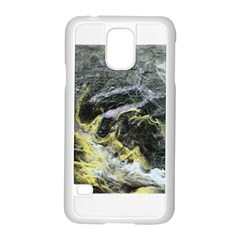 Black Ice Samsung Galaxy S5 Case (white)