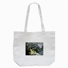 Black Ice Tote Bag (White)