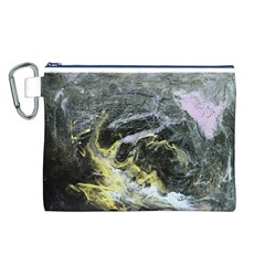 Black Ice Canvas Cosmetic Bag (L)