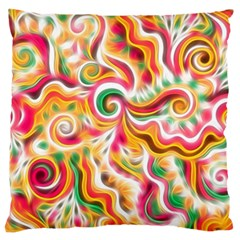 Sunshine Swirls Standard Flano Cushion Cases (One Side)