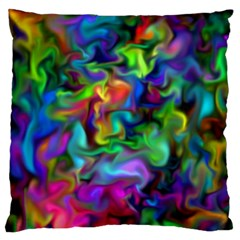 Unicorn Smoke Large Flano Cushion Cases (Two Sides)