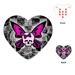 Skull Butterfly Playing Cards (Heart)