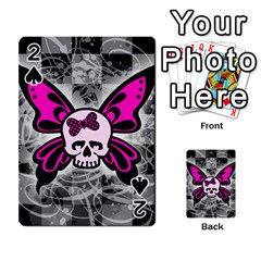 Skull Butterfly Playing Cards 54 Designs
