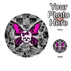 Skull Butterfly Playing Cards 54 (Round)