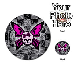 Skull Butterfly Multi-purpose Cards (Round)