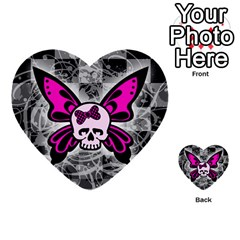 Skull Butterfly Multi-purpose Cards (Heart)