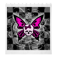 Skull Butterfly Shower Curtain 66  x 72  (Large)