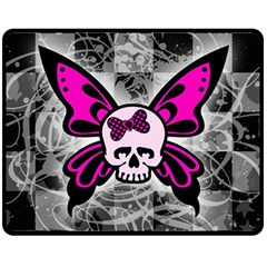 Skull Butterfly Fleece Blanket (medium)