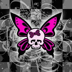 Skull Butterfly Magic Photo Cubes