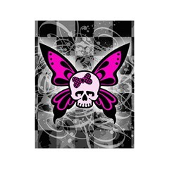 Skull Butterfly Shower Curtain 48  X 72  (small)